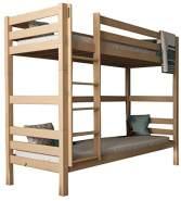 Mobi Furniture 'Daniel' Etagenbett 90x200 inkl. Lattenrost Massivholz Buche natur