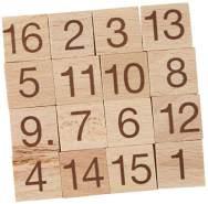 Bartl 102750 Mini-Holz-Puzzle Das magische Quadrat aus 16 kleinen Holzteilen