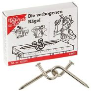 Bartl 102575 Mini-Metall-Puzzle Die verbogenen Nägel aus 2 kleinen Metallteilen
