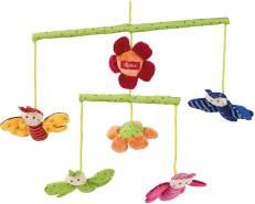 SIGIKID Mädchen und Jungen, Mobile Wiese Hangons, Babyspielzeug, empfohlen ab 0 Monaten, mehrfarbig, 49421