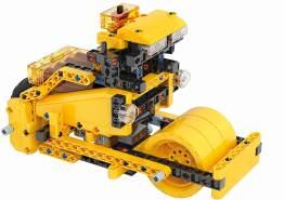 Clementoni 59162 Galileo Science - Construction Challenge Bulldozer, Bausatz für eine Planierraupe, Bagger und weitere Baufahrzeuge, Modellbau für Kinder ab 8 Jahren