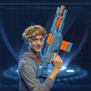 Hasbro - Nerf Elite 2.0 Echo CS-10 Nerf Gun, hellblau/orange