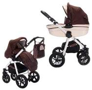 Friedrich Hugo PCS_MANDALA-2IN1-AIR-N13 Mandala, 2 in 1 Kombi Kinderwagen Luft, Caffè Lungo, braun