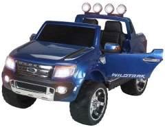 Kinder Elektroauto Ford Ranger SUV Kinderauto Elektrofahrzeug Elektro Spielzeug (Blau/Lackiert)