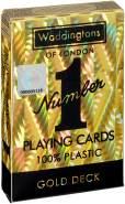 Winning Moves 029391 Number 1 Spielkarten - Gold Deck, Kartenspiel