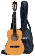Bontempi BontempiGSW 92.2/B Weiße Klassische Holzgitarre mit 6 Saiten. Stimmbar. Realistischer Sound. Plektrum. MusikMethode. Tragegurt. Tragetasche. L. 920 mm