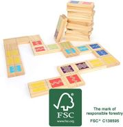 Small Foot 12032 Domino XXL Active aus FSC 100%-zertifiziertem Holz, Outdoor-Spiel für Erwachsene und Kinder ab 3 Spielzeug, Mehrfarbig