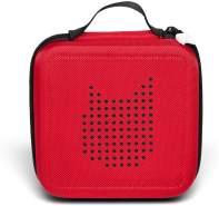 Tonies 'Tonie-Transporter' Transporttasche Rot, Box zur Aufbewahrung von bis zu 20 Tonies Hörfiguren, leicht, abwaschbar, Reißverschluss, 17,5 x 17,5 cm