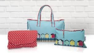 Belily-World Florida Shopper Bag - Wickeltasche Set