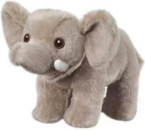 Bauer Spielwaren I Like My Planet - Elefant: Kuscheltier aus softem Plüsch, hergestellt aus recycelten PET-Flaschen, 100 % recycelt, stehend, 15 cm, grau (12912)