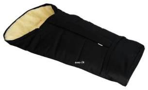 BABYLUX Winterfußsack 110 cm Schwarz, mit Lammwolle, universell einsetzbar