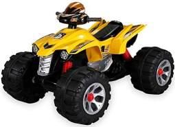 Elektroauto QUAD BURST Kinderauto Elektrofahrzeug Kinder Elektro Auto Spielzeug (Gelb)