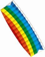 Paul Günther 1038 - Lenkbarer Parafoil-Drachen Dynamic, Lenkdrachen aus reißfestem Ripstop-Polyester für Kinder ab 10 Jahre, mit Lenkrollen und Fluganleitung, ca. 140 x 54 cm groß
