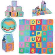 Baby Vivo Kinderspielteppich Spielmatte Kinderteppich Spielteppich 86tlg Schaumstoff Alphabet Zahlen