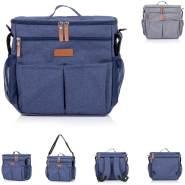Chipolino Thermo Kinderwagentasche Rucksack verstellbare Träger Wickelunterlage, Farben:blau