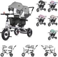 Chipolino Tricycle Dreirad 2Play zwei Kinder bis 50 kg Luftreifen Lenkstange dunkelgrau