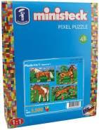 Ministeck 31301 - Pferde mit Hintergrund 4in1, ca. 3.500 Teile