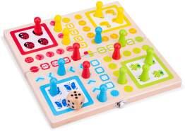 New Classic Toys Mensch Ärger Dich Nicht junior 26 cm Holz 21-teilig