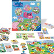 Ravensburger 21375 Wutz Peppa Pig 6-in-1-Spielset für Kinder und Familien, ab 3 Jahren, inkl. 6 klassischen Spielen: Bingo, Gedächtnis, Dominosteine, Schlangen und Leitern, Spielkarten, Multi, 0