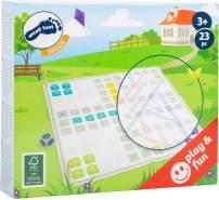 Small Foot 11372 Ludo und Leiterspiel Active aus Holz,FSC 100%-Zertifiziert, 2 Spiele-Klassiker in Einem,im XL-Format Spielzeug, Mehrfarbig
