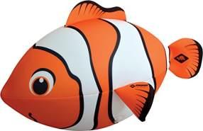 Schildkröt Neopren Maxi Fisch, riesiger Fisch zum Aufblasen, mit Wasserballventil, 67 x 40 cm, in Clownfisch-Optik, 970195