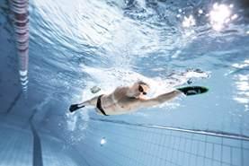 arena Unisex Wettkampf Trainingsflossen Kurzflossen Powerfin zur Verbesserung der Beintechnik, Acid Lime-Black (65), 33-34