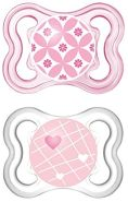 Mam Air Mini 0-6Monate Doppelpack rosa für Mädchen. sortiert