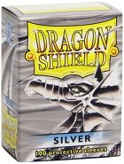 Dragon Shield Classic, Silver 200 Sleeves Kartenhüllen (2 Packs, 2x100) für TCGs wie Pokemon MTG Magic