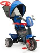 INJUSA - Dreirad Body Max Denim für Kinder ab 10 Monaten mit Schubstange Sonnendach