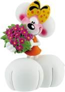 Bullyland 43474 - Spielfigur, Diddl Forever, Diddlina mit Blumen, ca. 7 cm