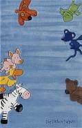 Kinderteppich 'Die Lieben Sieben' blau 80x150 cm