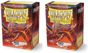 Arcane Tinmen -Dragon Shield - Schutzhüllen rot 100 Stück