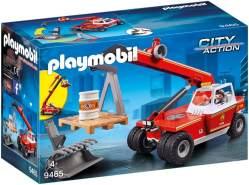 PLAYMOBIL City Action 9465 Feuerwehr-Teleskoplader, Ab 5 Jahren