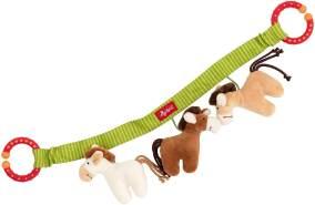 sigikid, Mädchen und Jungen, Wagenkette, Pferde, Baby Activity, Mehrfarbig, 42265