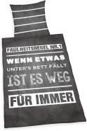 Herding Young Collection Bettwäsche-Set, Wendemotiv mit Spruch, Bettbezug 135 x 200 cm, Kopfkissenbezug 80 x 80 cm