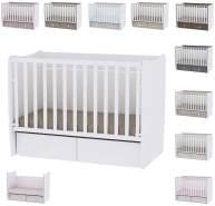 Lorelli 'MATRIX NEW' Babybett mit Schaukelfunktion, 2 Schubladen 60 x 120 cm weiß