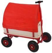 Bollerwagen Handwagen Leiterwagen Oliveira ~ ohne Sitz, mit Bremse, Dach rot