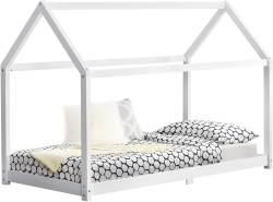 en.casa 'Embrach' Hausbett weiß, 90x200cm Kiefernholz Weiß