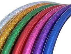 hoopomania Kinder Hula Hoop, Glitter Farben, Ø 70cm Silber