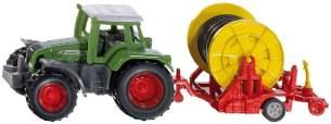 SIKU 1677 Traktor mit Bewässerungshaspel, Metall/Kunststoff, Multicolor, Abnehmbare Verteilerspritze