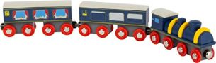 Small Foot 11236 Bahnhof-Set aus Holz, FSC 100%-Zertifiziert, Eisenbahn-Zubehör mit Magnetfunktion Spielzeug, Mehrfarbig