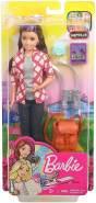 Barbie FWV17 - Reise Skipper Puppe mit Rucksack und Zubehör aus Barbie Dreamhouse Adventures, Puppen Spielzeug ab 3 Jahren