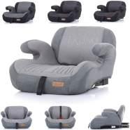 Chipolino Kindersitz Sitzerhöhung Trono Isofix Rückenlehne Gruppe 3 (22-36 kg) hellgrau