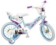 Toimsa Disney Frozen II - Die Eiskönigin 2 Kinderfahrrad 16 Zoll inkl. Felgenbremse, Trommelbremse, Korb, Puppensitz