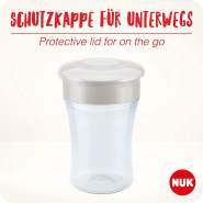 NUK Magic Cup Trinklernbecher | auslaufsicherer 360°-Trinkrand | 8+ Monate | BPA-frei | 230 ml | Koala/ Schildkröte (weiß)