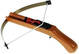 CORVUS Armbrust klein aus Holz mit Zielscheibe und 3 Sicherheitspfeilen