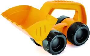 Hape E4054 - Monster-Bagger, Strandspielzeug/Sandspielzeug, gelb-orange