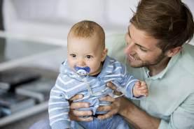 nip Schnuller Family kiefergerecht: Mindert Druck auf Zähne & Kiefer, Made in Germany, BPA-Frei, Größe 2, 5-18 Monate, Silikon, Boy