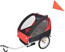 vidaXL Fahrradanhänger Rot/Schwarz, max. Belastbarkeit 30 kg