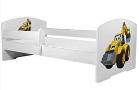 Angelbeds 'Luk2 Luk' Kinderbett 80 x 160 cm, Motiv 28, mit Lattenrost, Matratze und mit Bettschublade